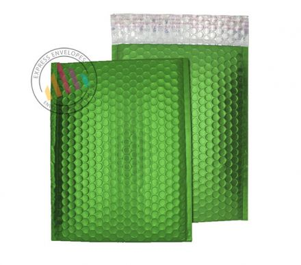 250×180mm - Avocado Green Padded Bubble Envelopes - Peel and Seal