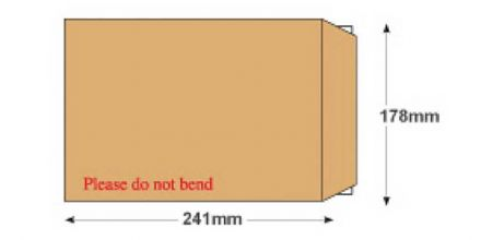 241 x 178mm - Manilla Board Back Envelopes - 120gsm - Non Window - Peel and Seal - image 2
