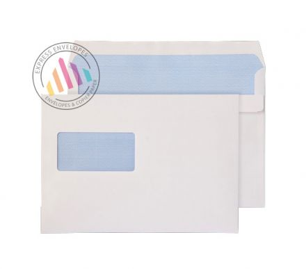 C5+ - White Commercial Envelopes - 90gsm -  High Window - Self Seal