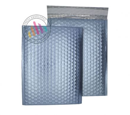 C4 - Cotton Blue Padded Bubble Envelopes - Peel and Seal