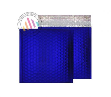165×165mm - CD Victory Blue Padded Bubble Envelopes - Peel and Seal