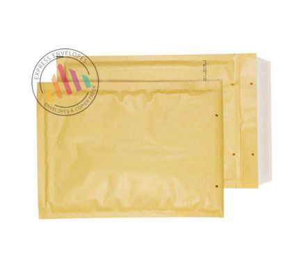 220×150mm - Gold kraft Padded Bubble Enveloes - Peel and Seal