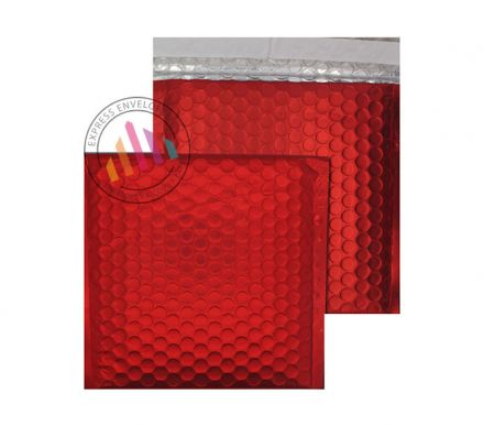 165×165mm - CD Chilli Haze Padded Bubble Envelpes - Peel and Seal