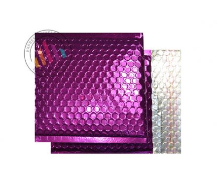 165×165mm - CD Purple Grape Padded Bubble Envelopes - Peel and Seal