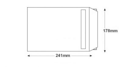 254 x 178 - White Commerical Envelopes - 100gsm - Non Window - Self Seal - image 2