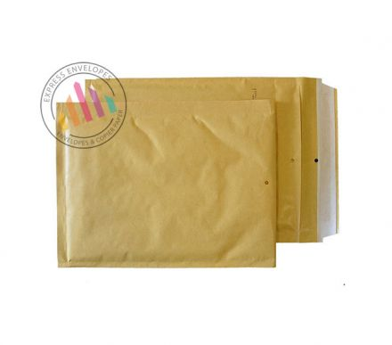260x180mm - Gold Kraft Padded Bubble Envelopes - Peel and Seal