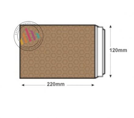 C6 - Gold Kraft Padded Bubble Envelopes - Peel and Seal