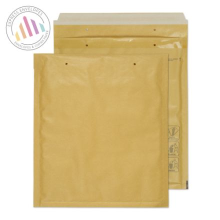 260×220mm - Gold Kraft Padded Bubble Envelopes - Peel and Seal