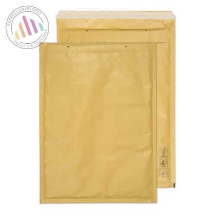 430×300mm - Gold Kraft Padded Bubble Envelopes - Peel and Seal