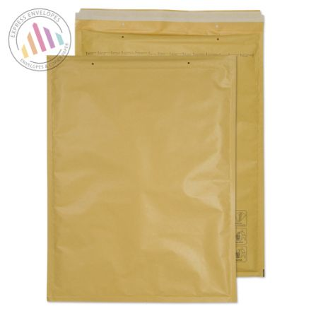 470×350mm - Gold Kraft Padded Bubble Envelopes - Peel and Seal