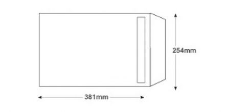 381 x 254 - White Commercial Envelopes - 120gsm - Non Window - Self Seal - image 2