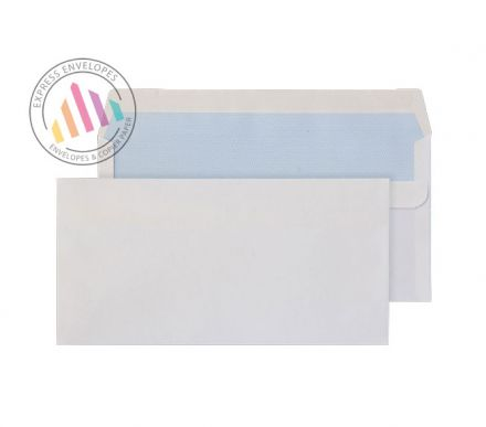 DL - White Commercial Envelopes - 110gsm - Non Window - Self Seal