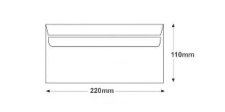 DL - White Commercial Envelopes - 110gsm - Non Window - Self Seal - image 2