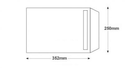 B4 - White Commercial  Envelopes - 100gsm - Non Window - Self Seal - image 2