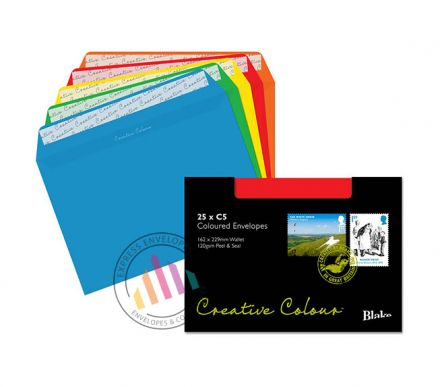 C5 - Assorted Coloured Envelopes - 120gsm - Non Window - Peel and Seal