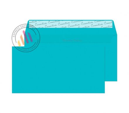 DL+ - Cocktail Blue Envelopes - 120gsm - Non Window - Peel and Seal