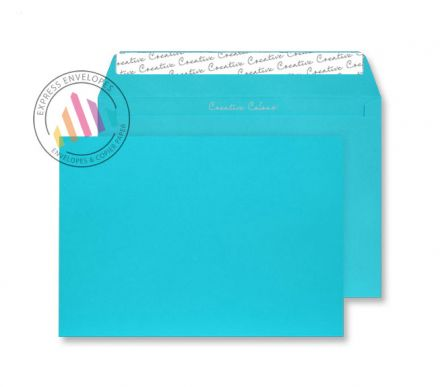 C4 - Cocktail Blue Envelopes - 120gsm - Non Window - Peel and Seal
