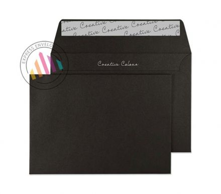 C6 - Jet Black Envelopes - 120gsm - Non Window - Peel and Seal