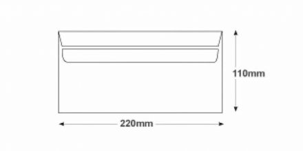 DL -  White  Commercial Envelopes - 80gsm - Non Window - Self Seal - image 2