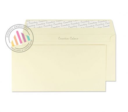 DL+ - Vanilla Ice Cream Envelopes - 120gsm - Non Window - Peel and Seal