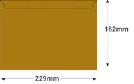 C5 - Metallic Gold Envelopes - 120gsm - Non Window - Peel and Seal - image 2