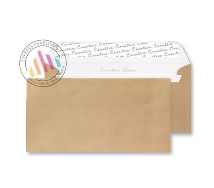 DL+ - Metallic Gold Envelopes - 130gsm - Non Window - Peel and Seal