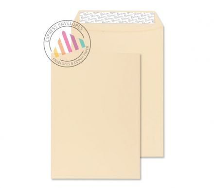 C4 - Cream Wove Envelopes - 120gsm - Non Window - Peel and Seal