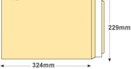 C4 - Cream Wove Envelopes - 120gsm - Non Window - Peel and Seal - image 2