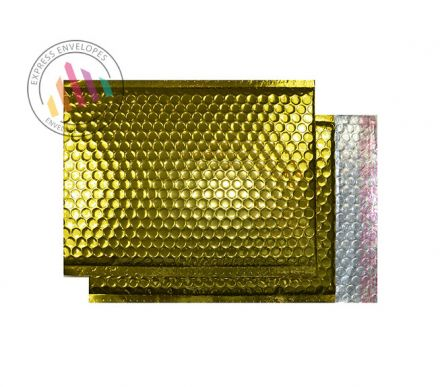 C3 - Glamour Gold Padded Bubble Envelopes - Peel and Seal