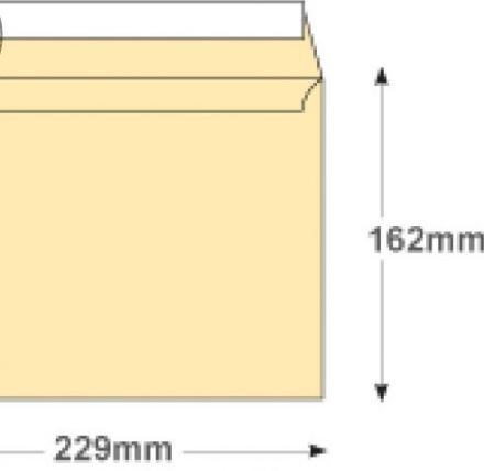 C5 - Cream Wove Envelopes - 120gsm - Non Window - Peel and Seal - image 2