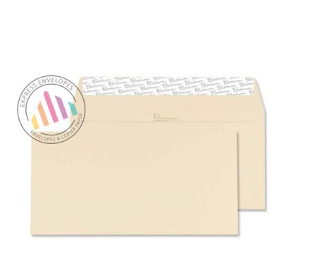 DL - Cream Wove Envelopes - 120gsm - Non Window - Peel and Seal