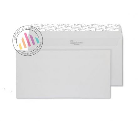 DL - Smooth Diamond White Envelopes - 120gsm - Non Window - Peel and Seal
