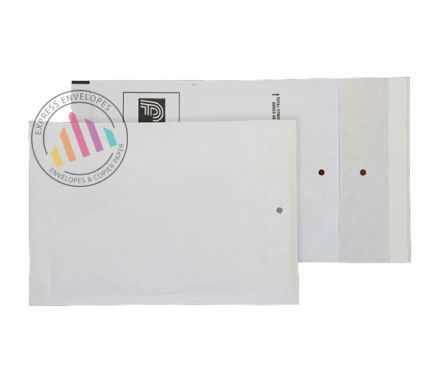 165x100mm - White Padded Bubble Envelopes - Peel and Seal