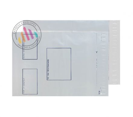 C3+ - White Polythene Envelopes - 70µm - Non Window - Peel and Seal