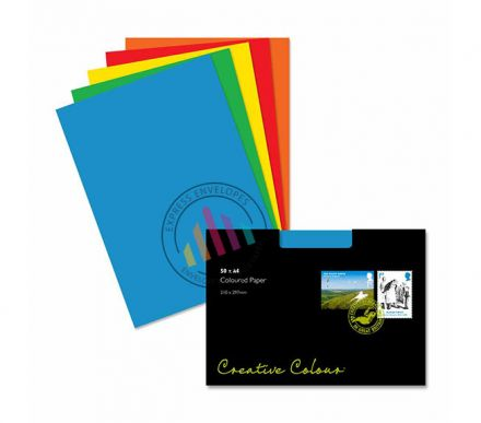 A4 - Creative Colour Assorted Coloured Paper - 120gsm