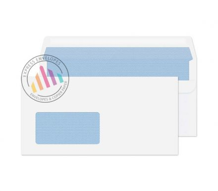 DL - White Commercial Envelopes - 80gsm - German Window - Self Seal