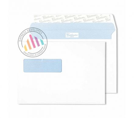 C5 - Ultra White Wove Envelopes - 120gsm - European Window - Peel and Seal