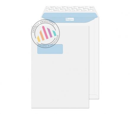 C4 - Ultra White Wove Envelopes - 120gsm - Window - Peel and Seal