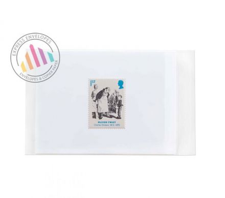 120×162mm - Clear Cello Bags - 30µm - Non Window - Resealable