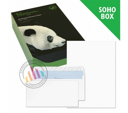 DL Envelopes + A4 Paper - Super White Wove Soho Box - 120gsm - Peel and Seal