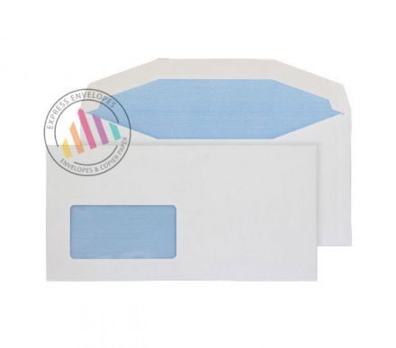 DL+ - White Premium Mailing Envelopes - 90gsm - Window - Gummed