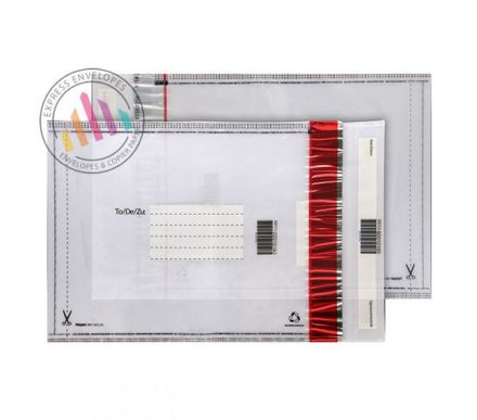 430×330mm - White Polythene Envelopes - 70Mic - Peel and Seal
