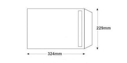 C4 - White Commercial Envelopes - 120gsm - Non Window - Self Seal - image 2