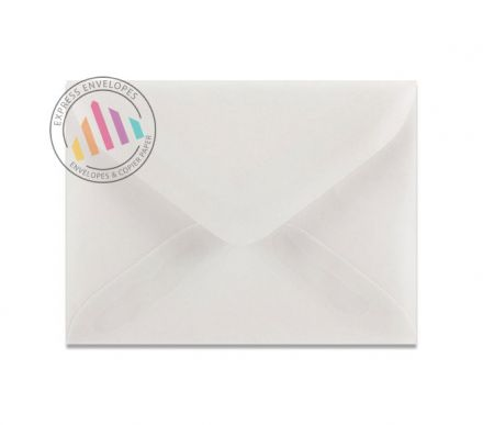 C6 - Translucent White Invitation Envelopes - 90GSM - Gummed