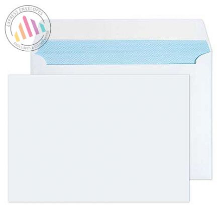 C6 - White Commercial Envelopes - 100gsm - Non Window - Peel & Seal