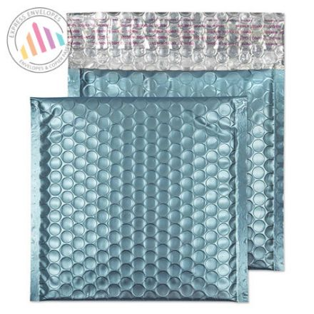 165×165mm - CD Cotton Blue Padded Bubble Envelopes - Peel and Seal