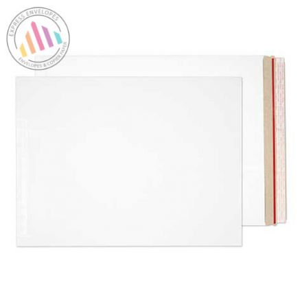 508×381mm - White All Board Envelopes - 350gsm - Peel and Seal