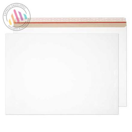 444×625mm - White All Board Envelopes - 350gsm - Peel and Seal