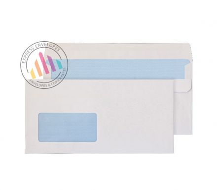 DL + - White Commercial  Envelopes - 90gsm - Window - Self Seal