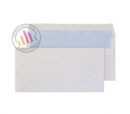 121×235mm - White Commercial Envelopes - 90gsm - Non Window - Self Seal